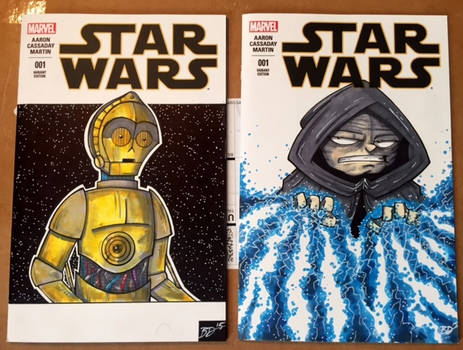 Star Wars Sketch Covers