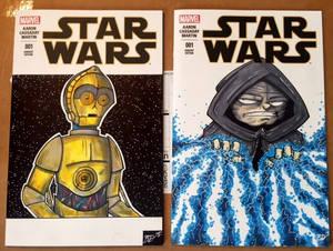 Star Wars Sketch Covers