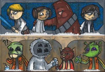 Star Wars Masterworks - 4 card puzzles