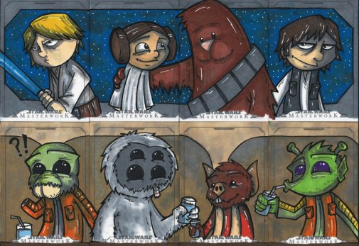 Star Wars Masterworks - 4 card puzzles by bdeguire