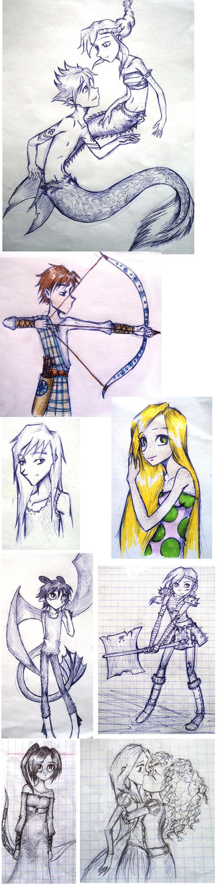 even more sketches by UkeHicForEva