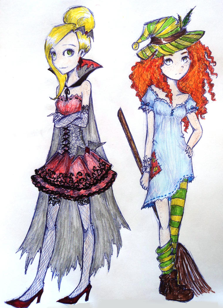 Halloween girls by UkeHicForEva