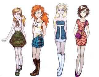 SeasonsGirls-modern AU by UkeHicForEva