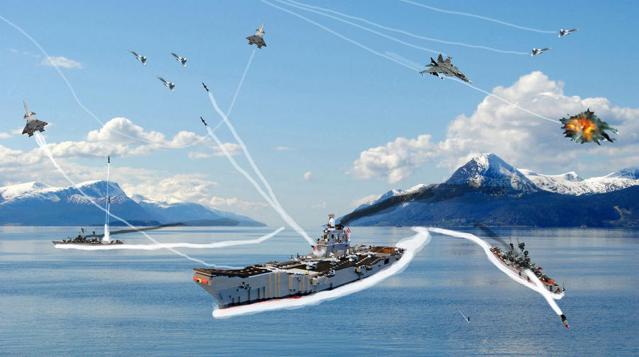 Kalstin aircraft carrier under aircraft attack by Einon88 on ...