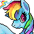 Rainbow Dash Icon by dashleigh