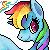 Rainbow Dash Icon by dashleigh