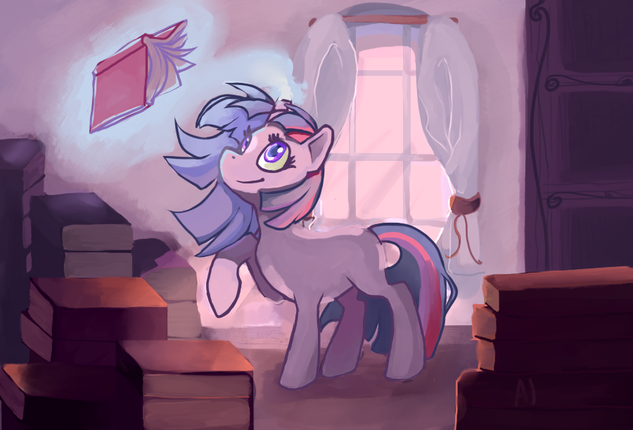 Organisation Day in the Canterlot Library by dashleigh