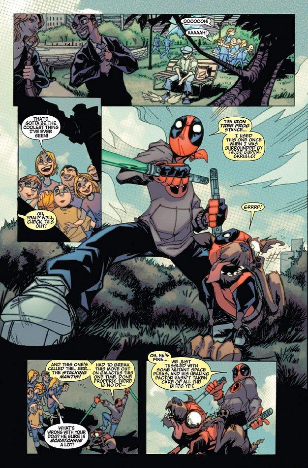 Deadpool Family 1 pg 1 by DrummerboyDomo