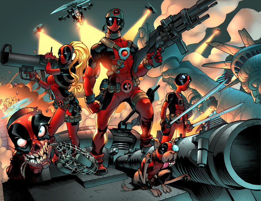 Deadpool Family by DrummerboyDomo