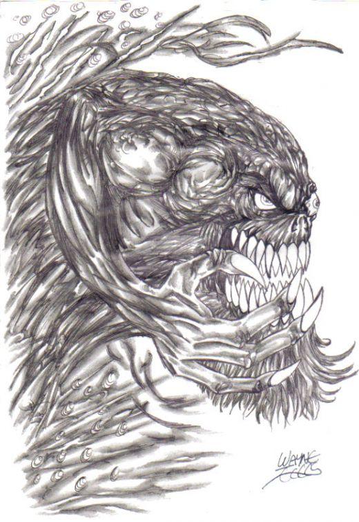 Monster Creature by demonic666evil on DeviantArt