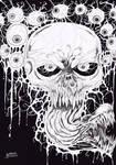 Black And White Horror Skull Art