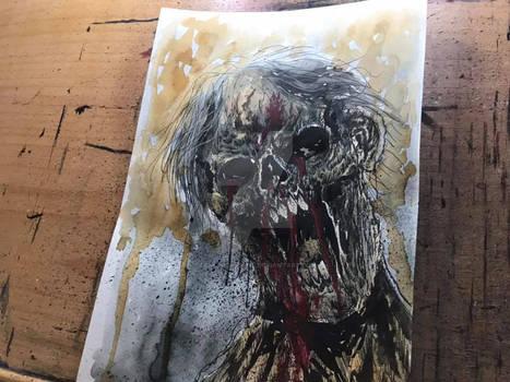 Mixed Media Zombie Concept Artwork