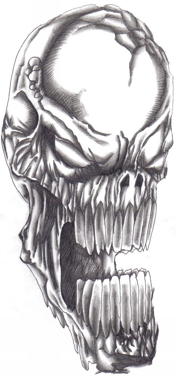 demon skull by wayne tully by demonic666evil on deviantart. Black Bedroom Furniture Sets. Home Design Ideas