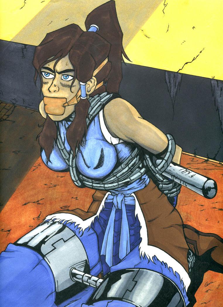 Avatar Korra in metal trouble by gustorak