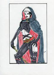 Comtesse Tarantula Portrait WIP by gustorak