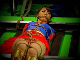 Supergirl tied