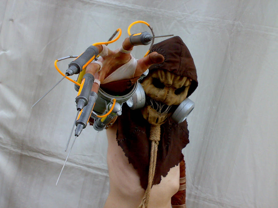 how to make scarecrow mask arkham knight
