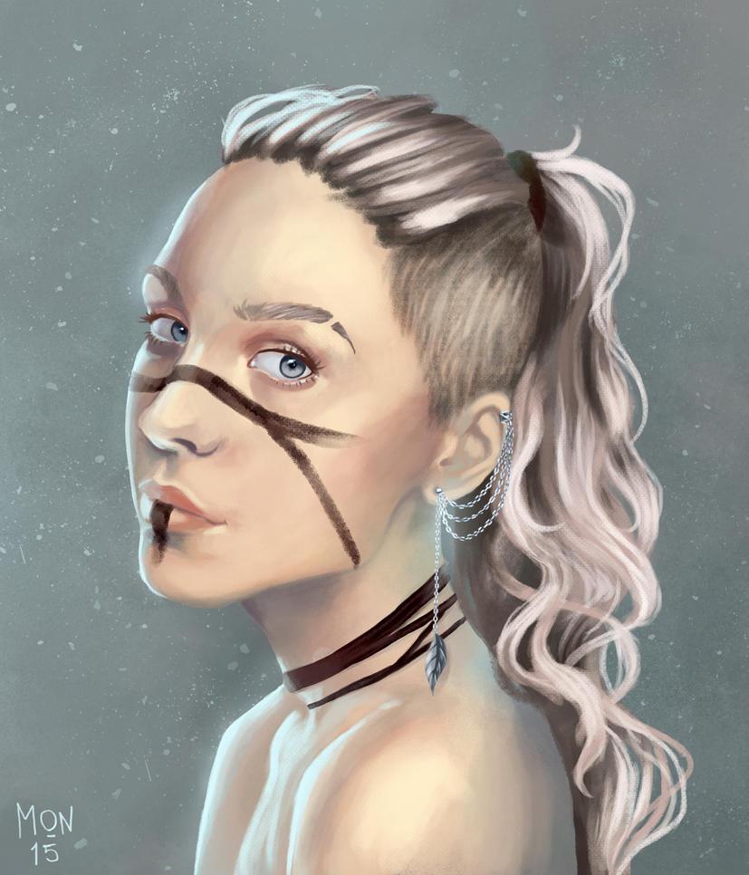 Girl with warpaint by Sonen89