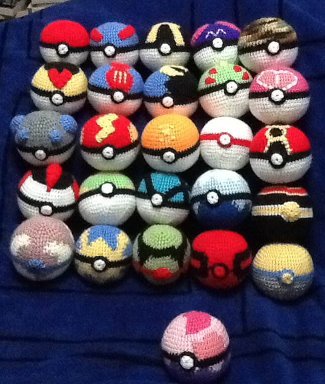 Crochet Pokeballs By Onlera On Deviantart
