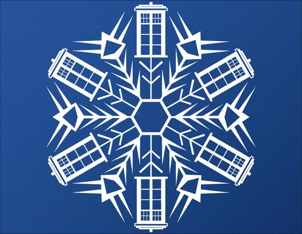 TARDIS Snowflake by sylview