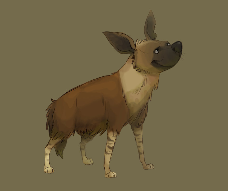 Brown hyena by Frozenspots