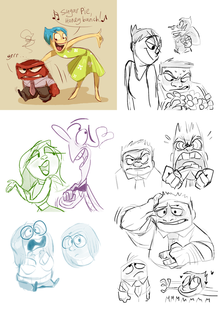 Inside Out sketchdump by Frozenspots