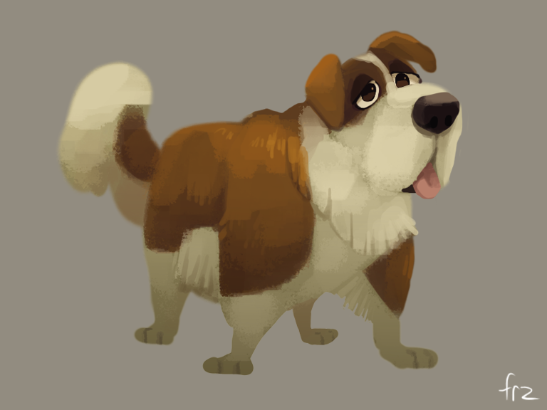 St. Bernard dog by Frozenspots