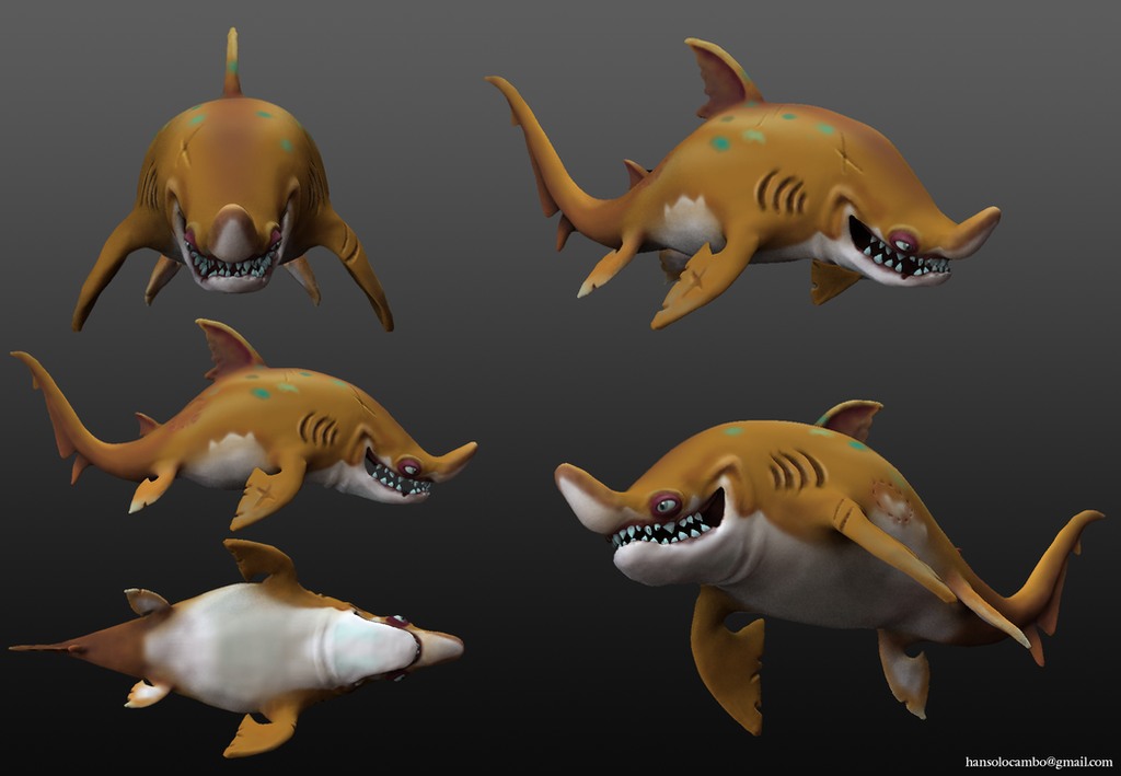 ZbrushSculpt01 SandShark by HansoloCambo by hansolocambo
