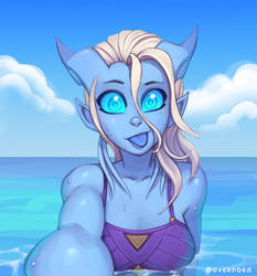 Draecember 21st - At the beach by Zeon-in-a-tree
