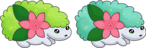 Two Little Shaymin by SALBP