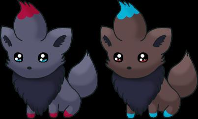 Two Little Zorua by SALBP