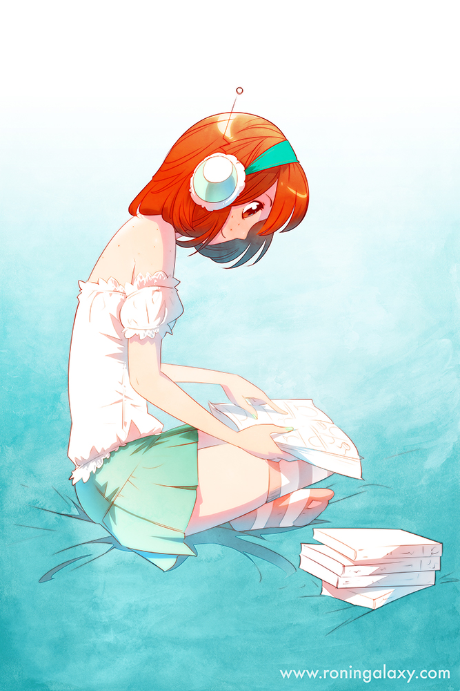 RG: Taylor - Bookworm by nakanoart