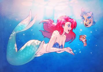 Nemo Found Ariel by nakanoart