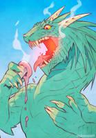 Cool Dragon - speedpaint by nakanoart