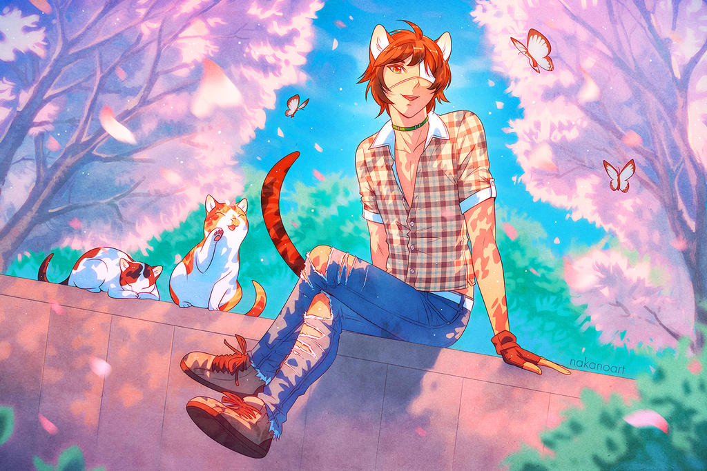 Stray Cat by nakanoart
