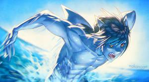 Shark Attack! by nakanoart