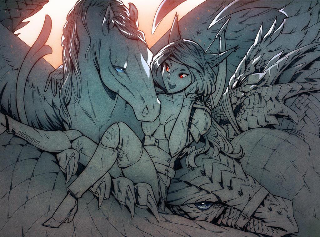 The Dragon Hunter by nakanoart