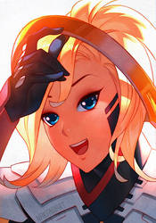 Overwatch - Mercy by nakanoart