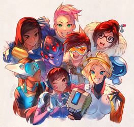 Overwatch - Girls Just Wanna Have Fun! by nakanoart