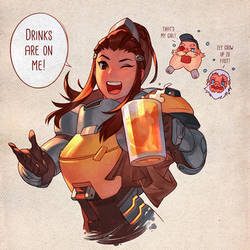 Overwatch - Drinks with Brigitte