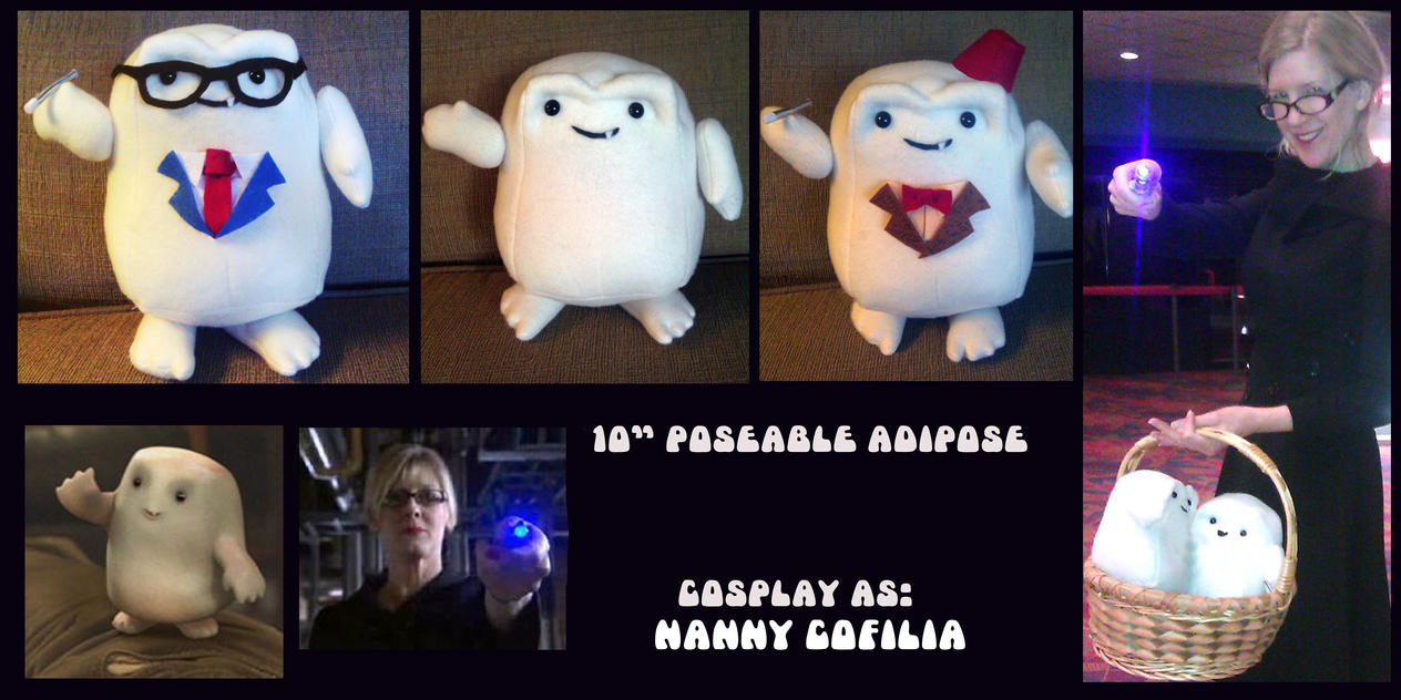 Doctor Who Adipose Poseable Plushies Cosplay by PlushActionToys
