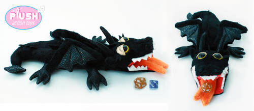 Dungeons and Dragons Plushie Dragon Dice Bag