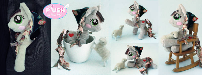 Pocket Posable Plush Pony OC Raggs and Woolly