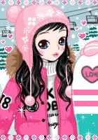 pink girl by leehaneul