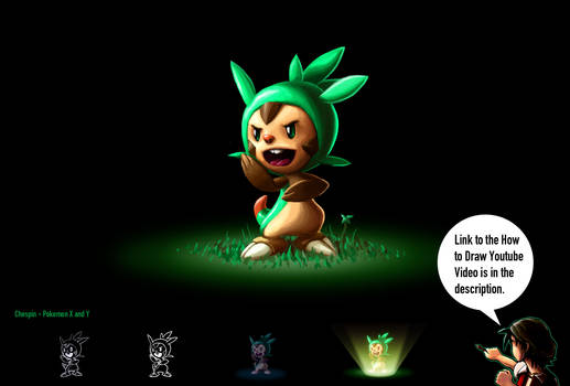 How to Draw Pokemon X and Y - Chespin