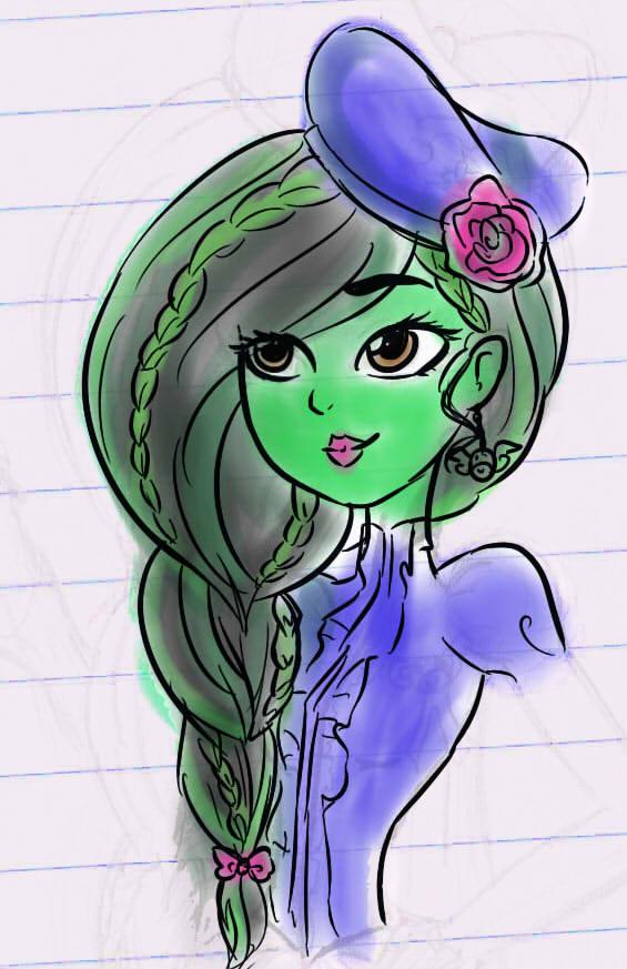 Elphaba doodle by Meg-the-fly