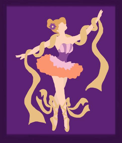 Disney Ballerina: Rapunzel Tangled by middleR3DD