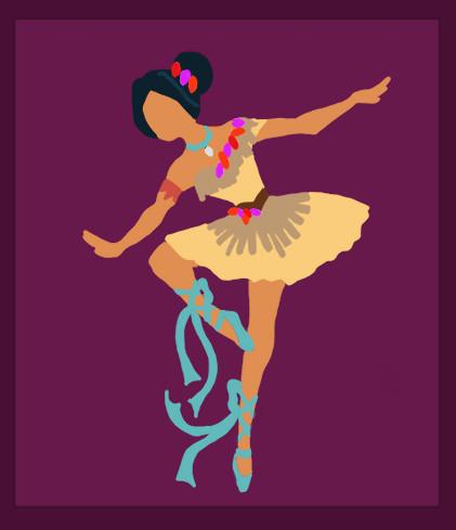 Disney Ballerina: Pocahontas by middleR3DD