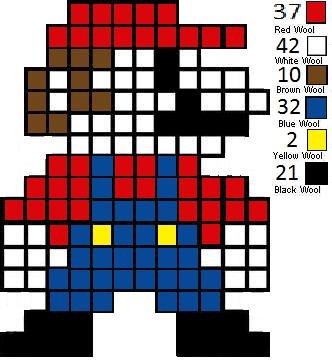 Minecraft Making Pixle Art Easy 8 Bit Mario By
