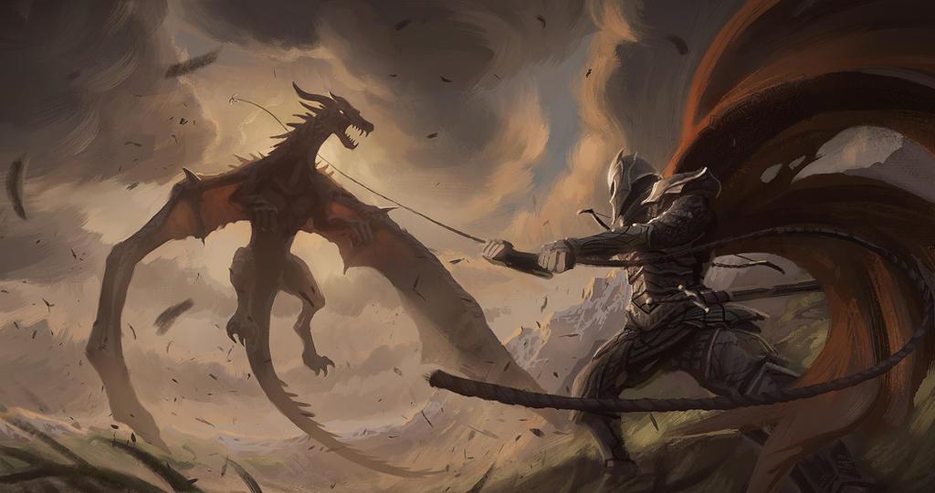 Grappling the Wyvern by Gjaldir